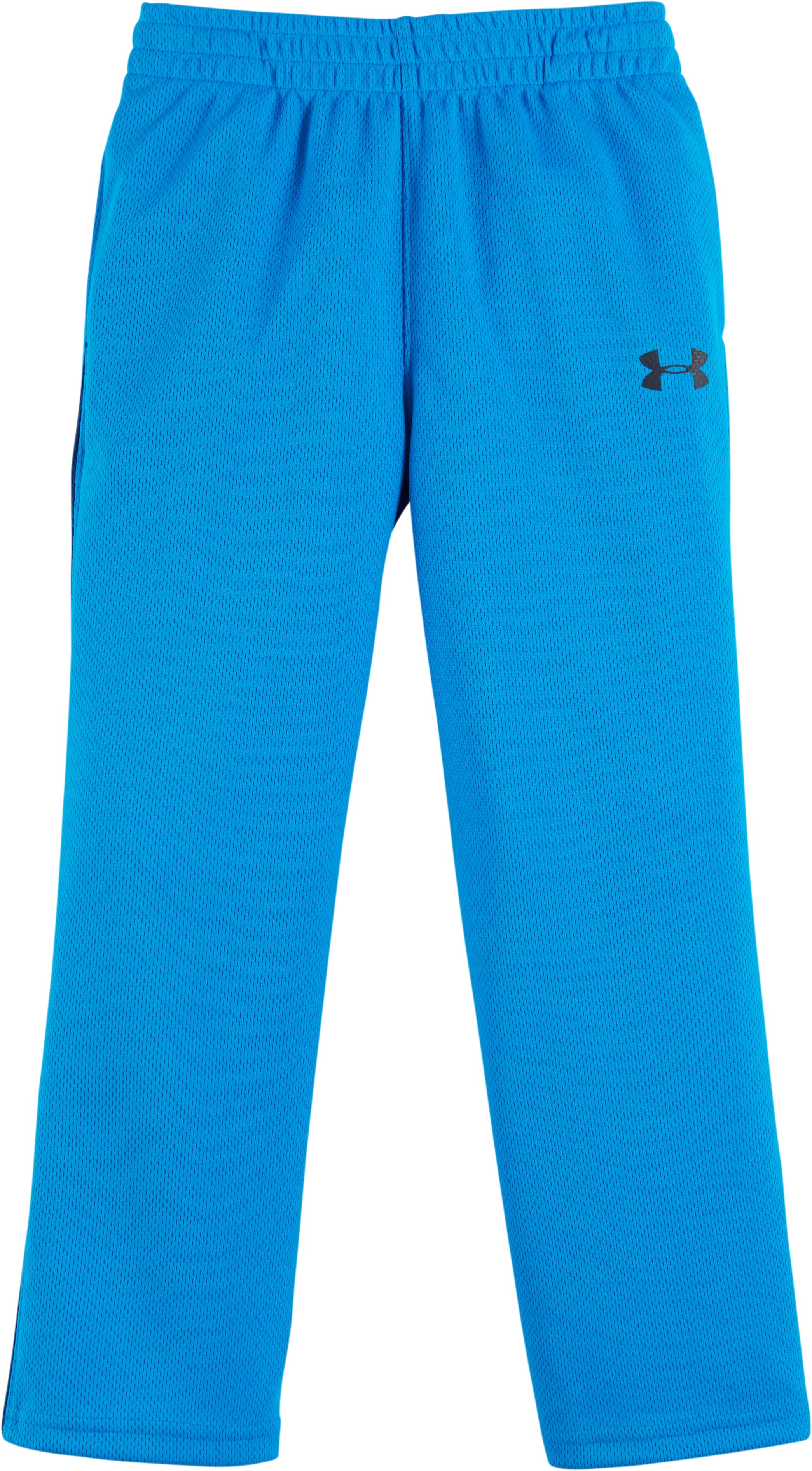 Boys' Toddler UA Midweight Champ Warm-Up Pants, BRILLIANT BLUE, Laydown