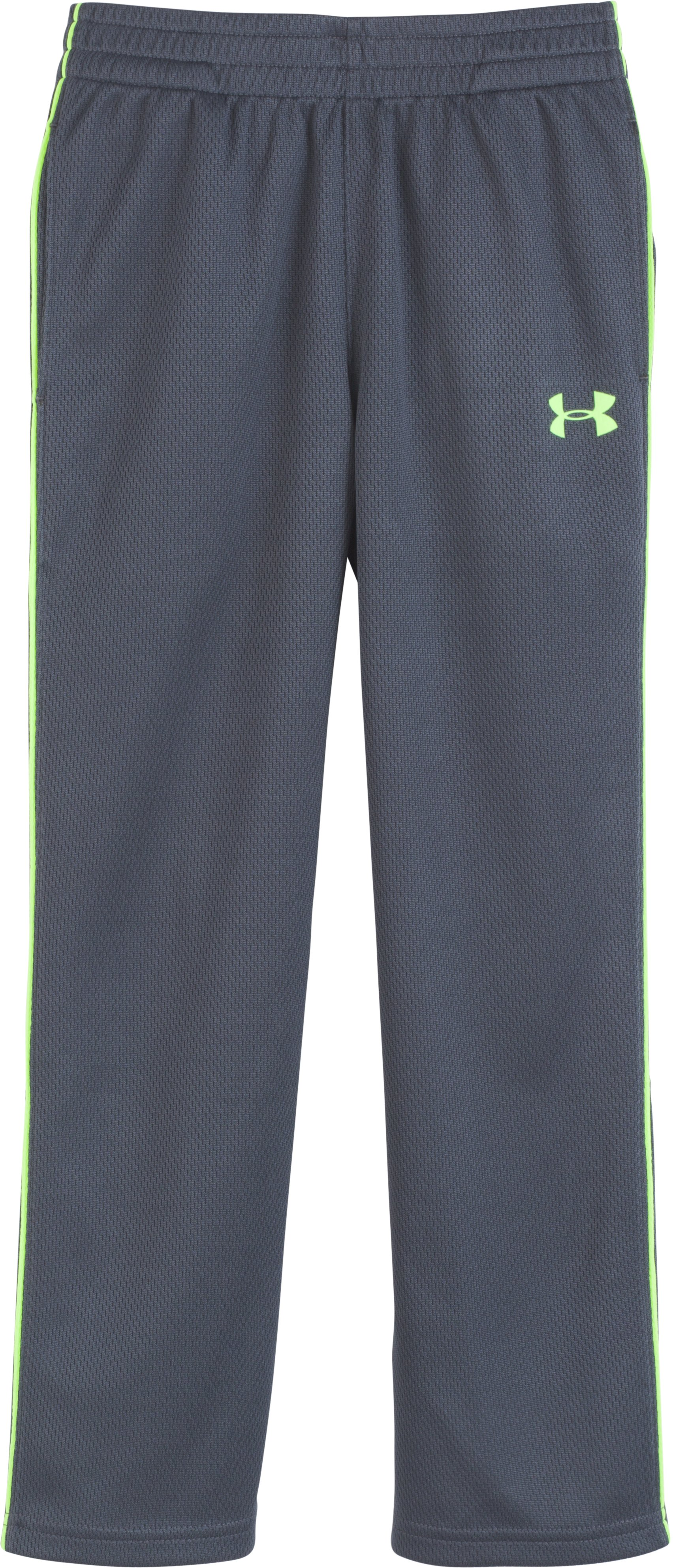 Boys' Pre-School UA Midweight Warm-Up Pants , STEALTH GRAY, Laydown