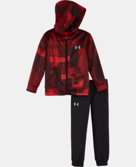 New Arrival Boys' Pre-School UA Blast Symbol Hoodie Track Set  1 Color $44.99