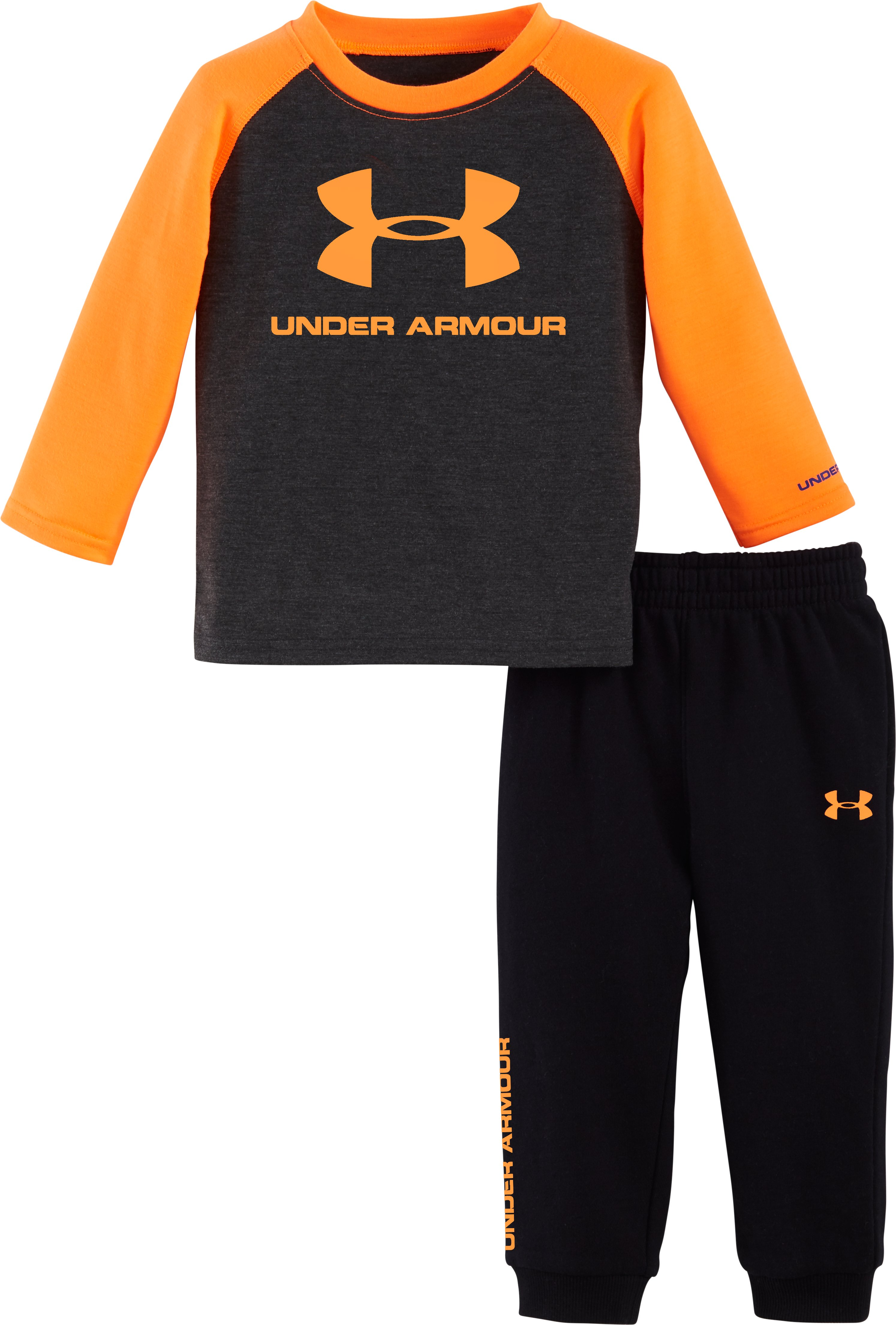 Boys' Infant UA Core Jogger Set, Carbon Heather, zoomed image