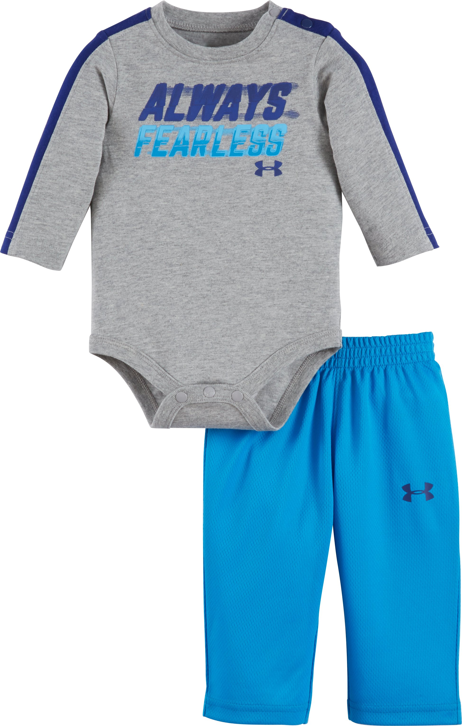Boys' Newborn UA Always Fearless Set, True Gray Heather, Laydown