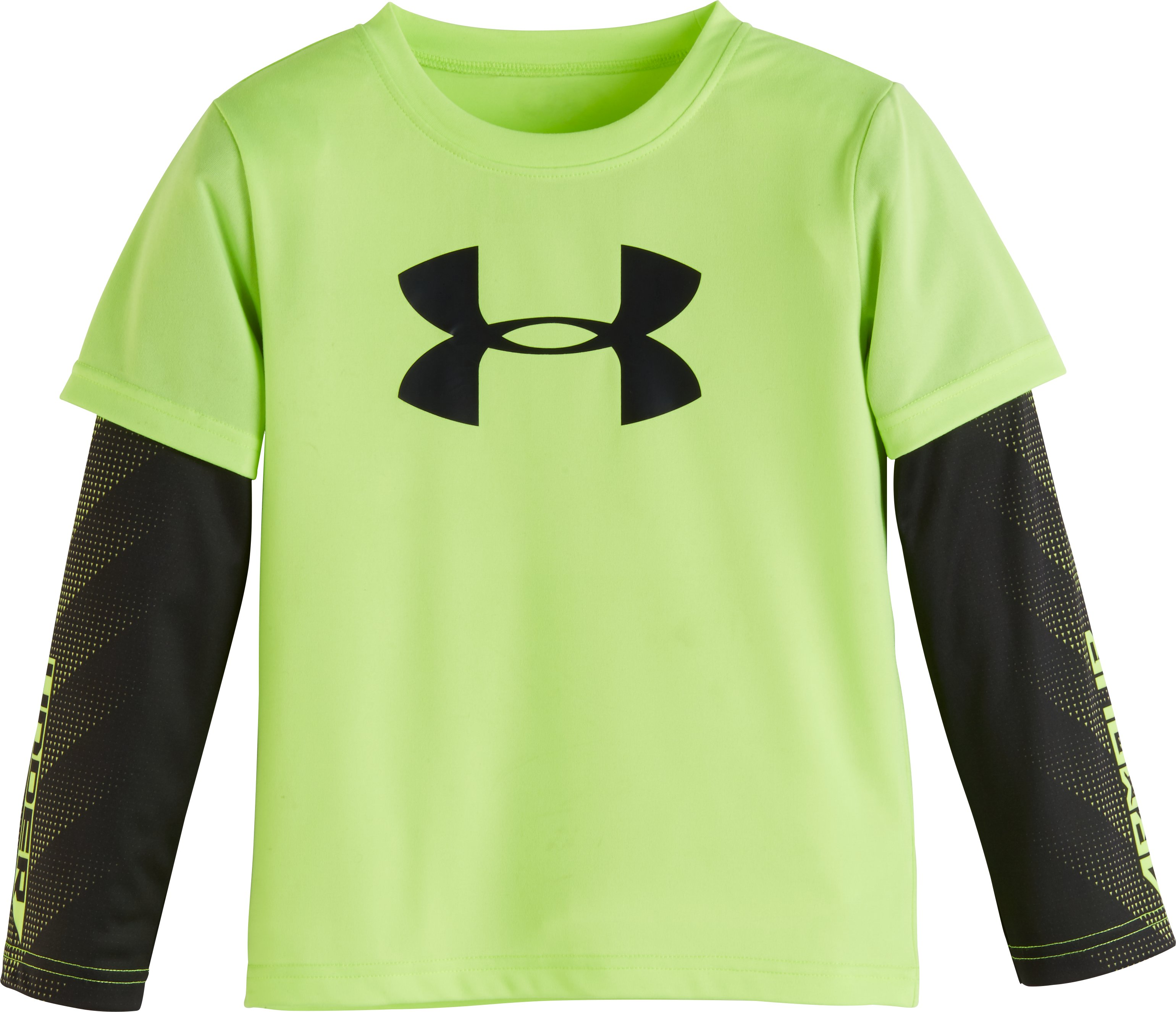 Boys' Toddler UA Big Logo Power Slider, FUEL GREEN, Laydown