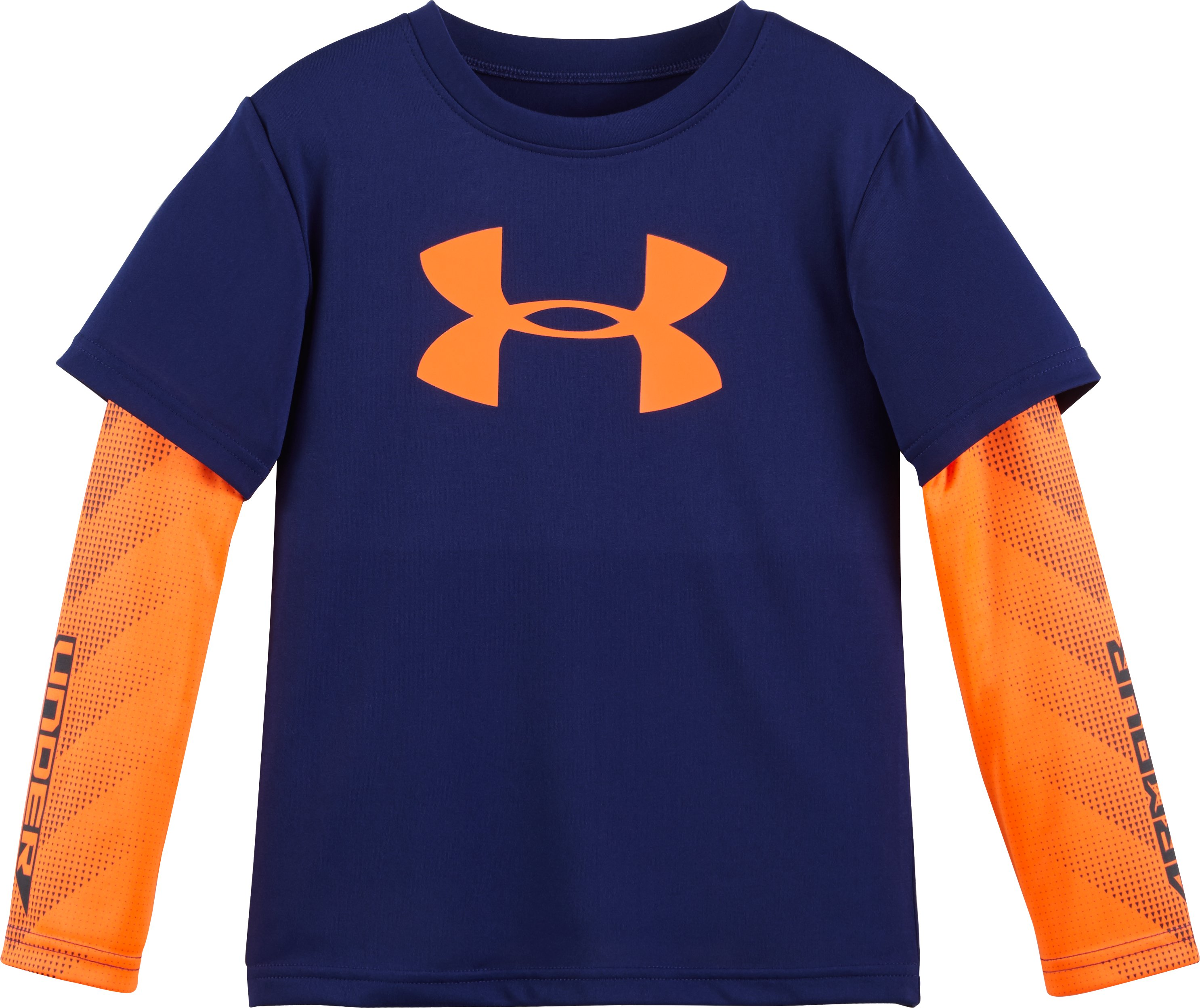 Boys' Pre-School UA Big Logo Power Slider, Caspian, Laydown