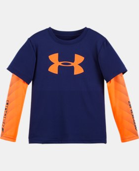 Boys' Pre-School UA Big Logo Long Sleeve   1 Color $29.99