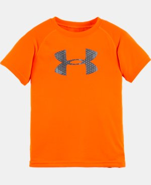 New Arrival Boys' Toddler UA Hexascope Big Logo Short Sleeve T-Shirt LIMITED TIME: FREE U.S. SHIPPING  $17.99