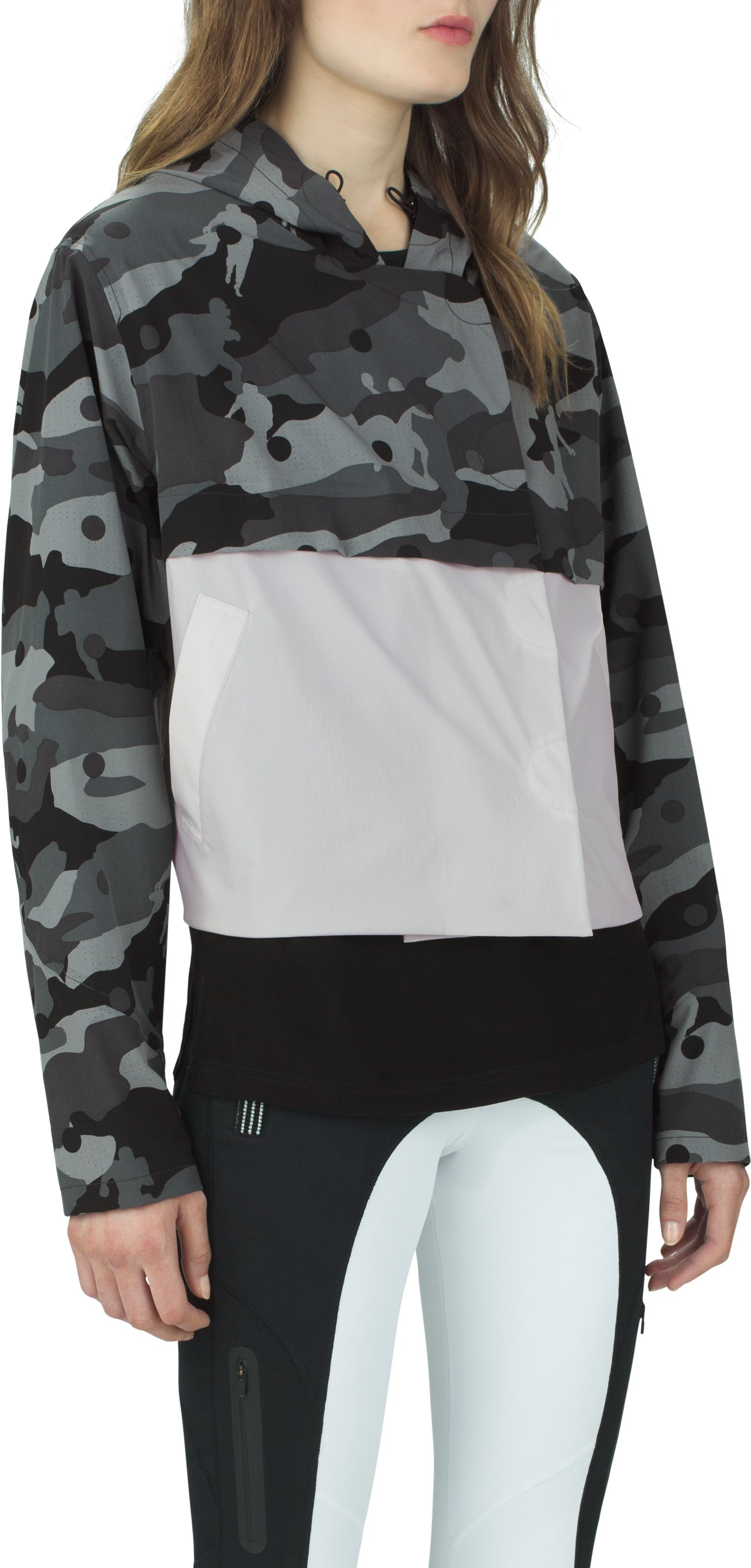 Women's UAS Elemental Camo Cropped Trench, Black