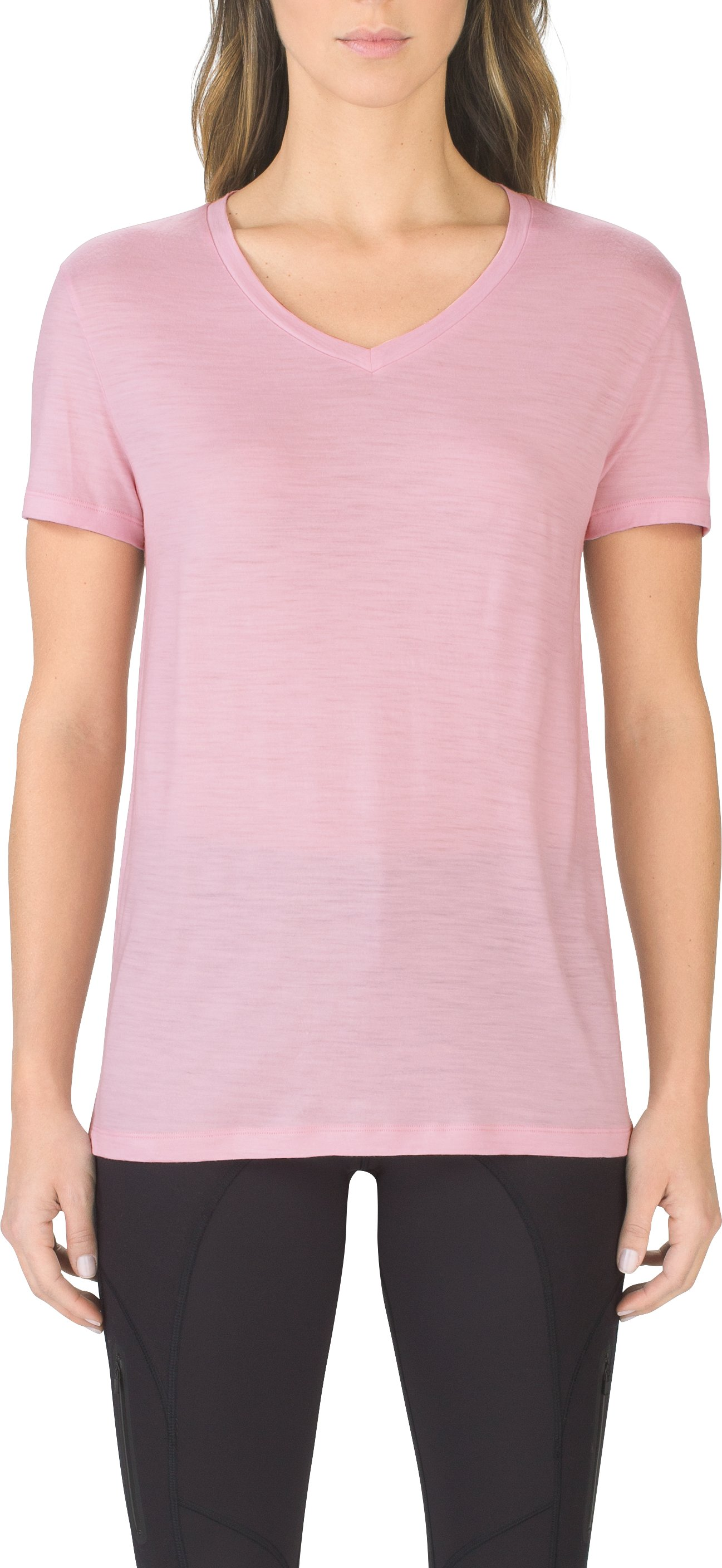 Women's UAS Prime Short Sleeve V-Neck, Pink