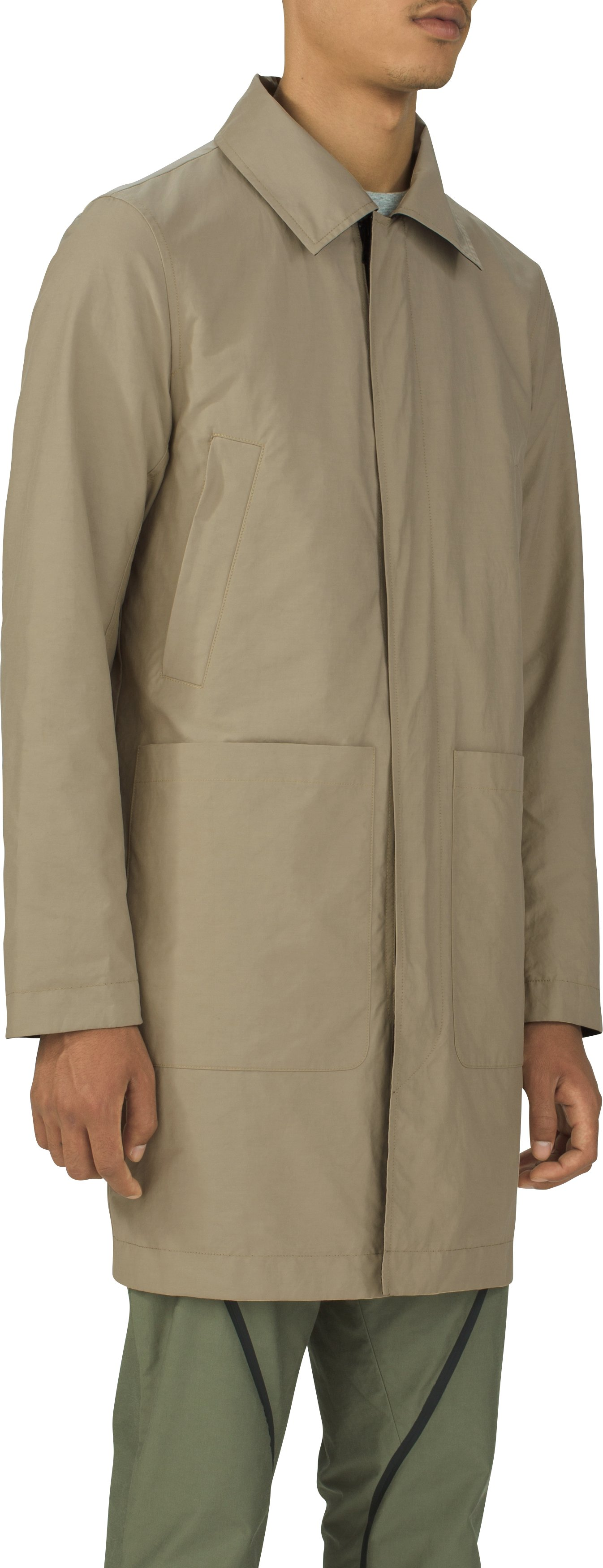 Men's UAS Fieldhouse Reflective Trench, Black , zoomed image