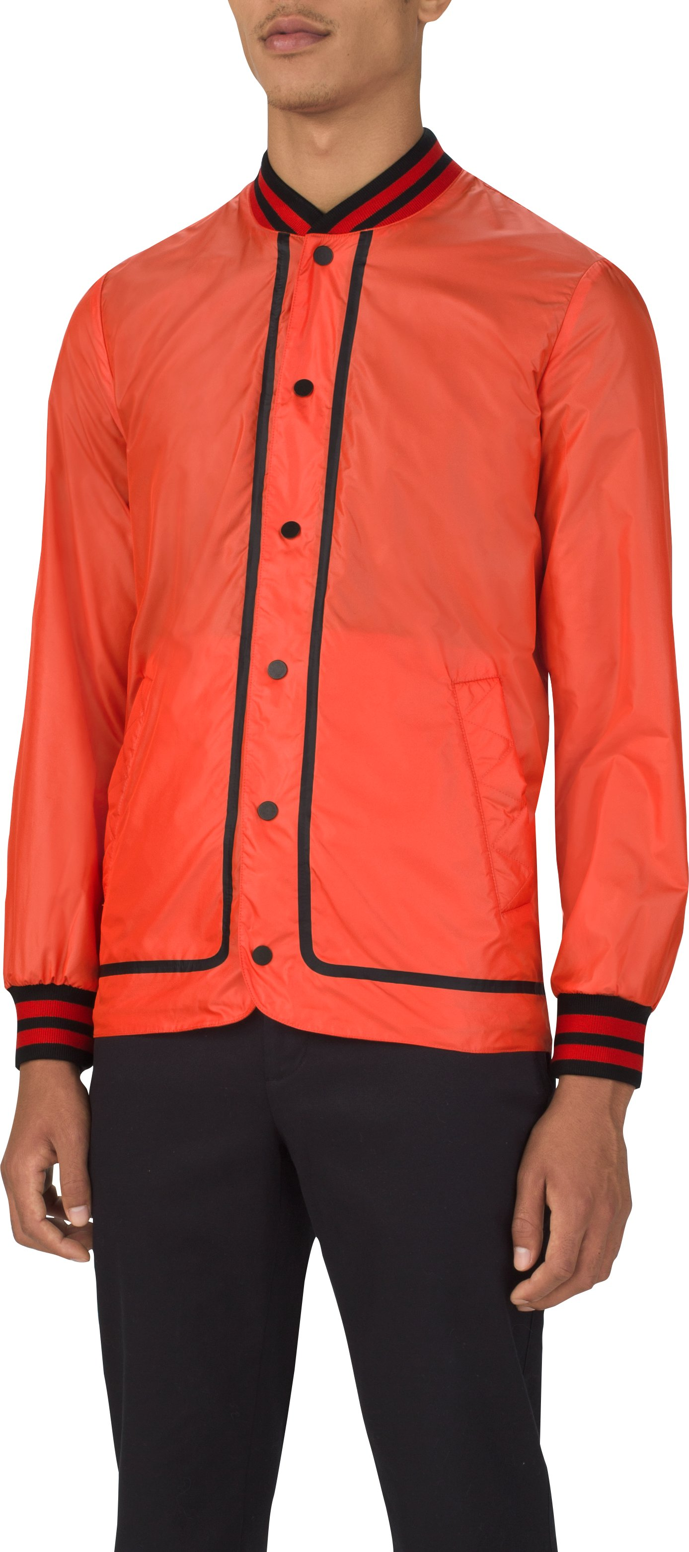Men's UAS Coaches Jacket Water Resistant Woven Shell, Orange