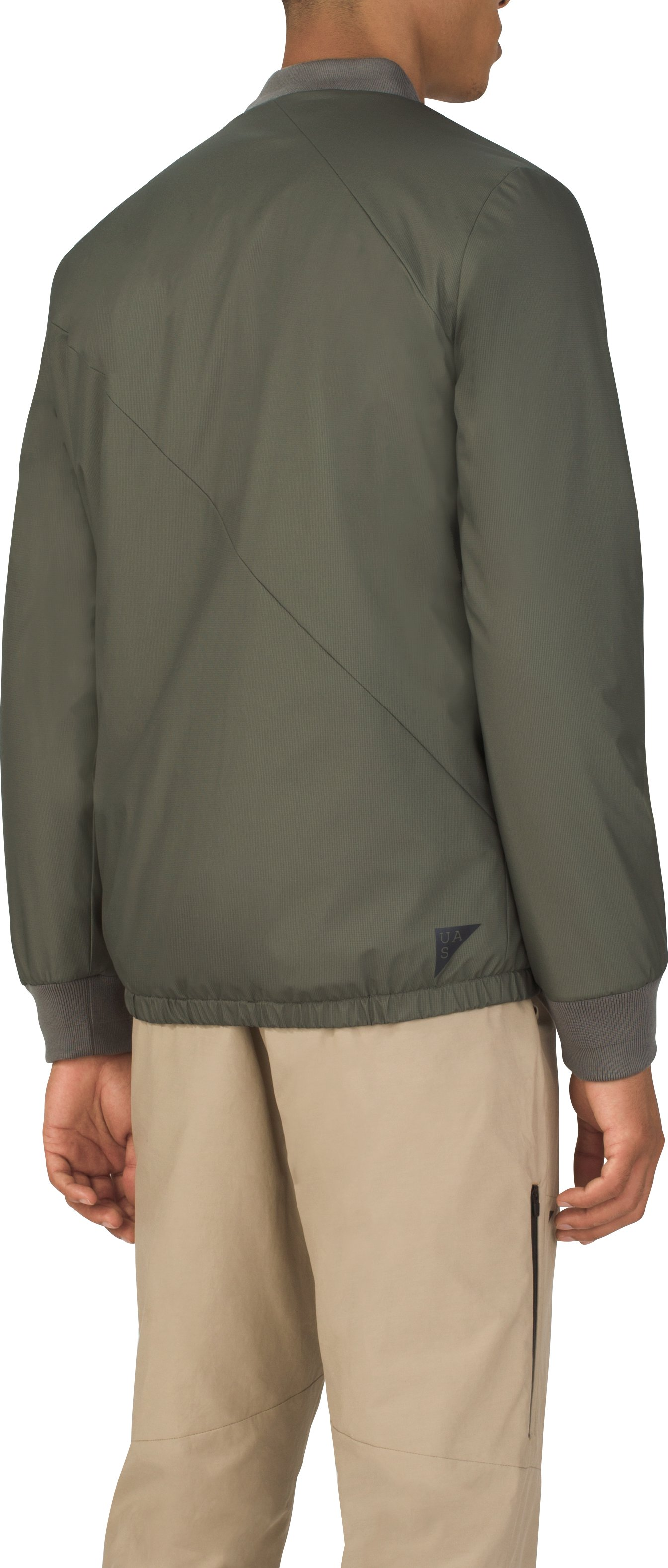 Men's UAS Letterman Jacket, MILITARY GREEN, undefined