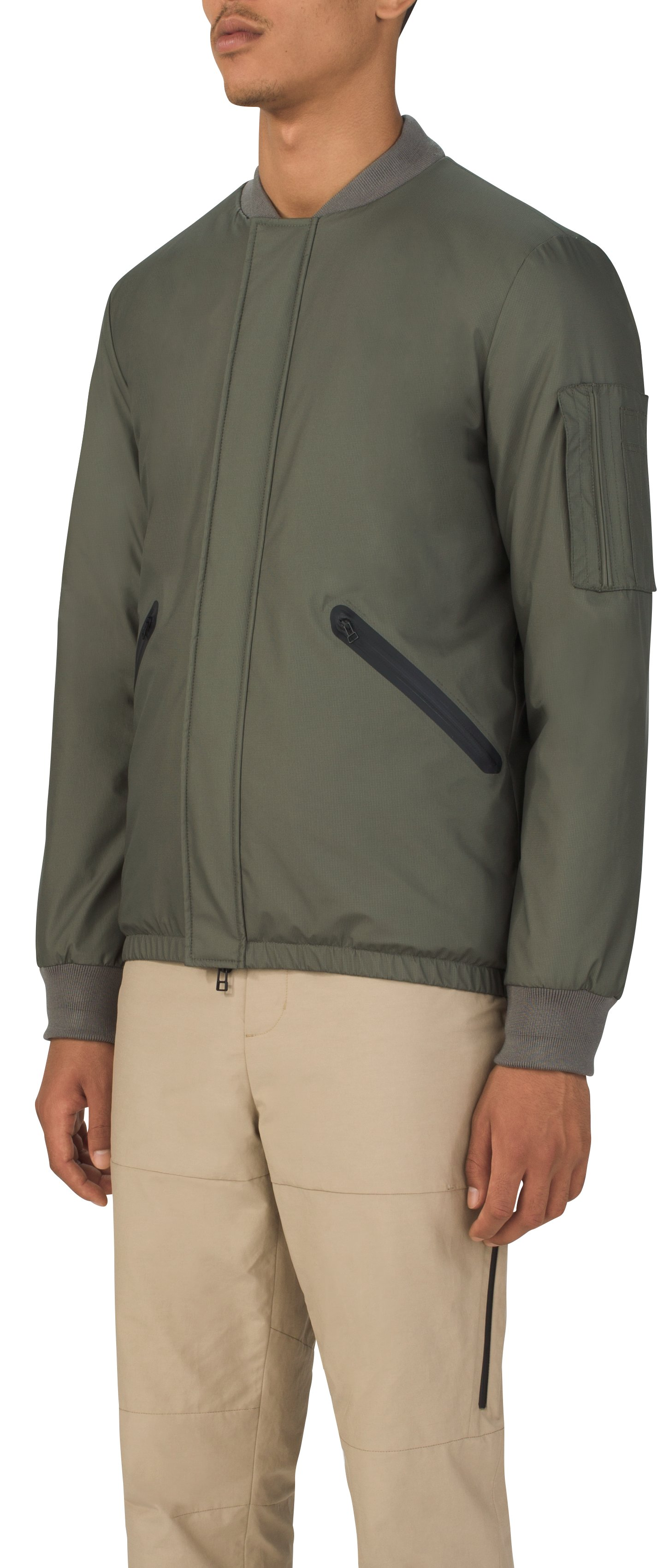 Men's UAS Letterman Jacket, MILITARY GREEN