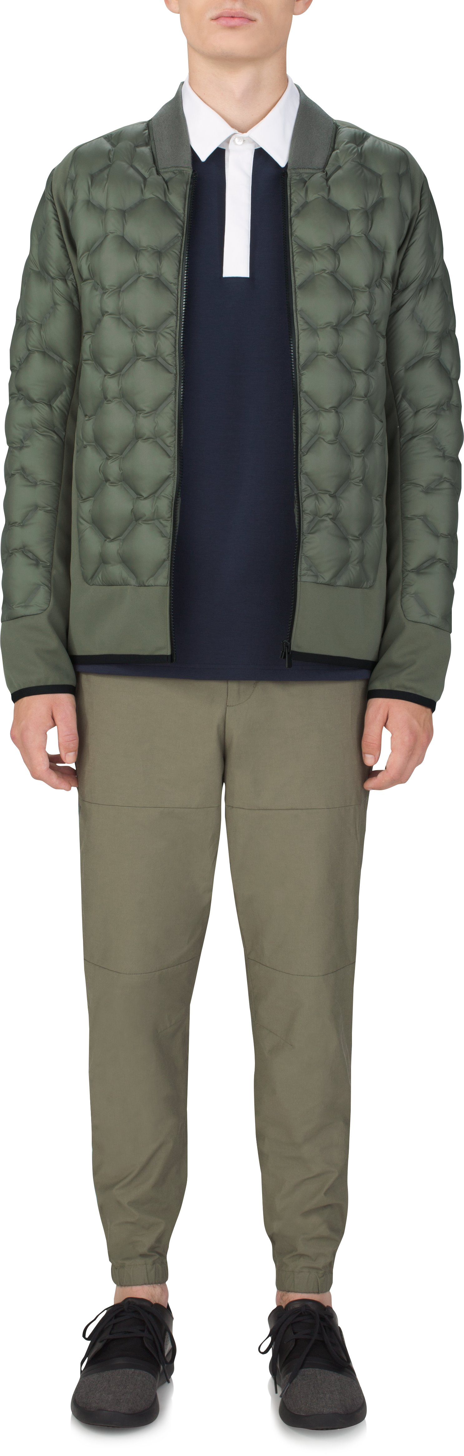 Men's UAS Transition Down Jacket, MILITARY GREEN, Front