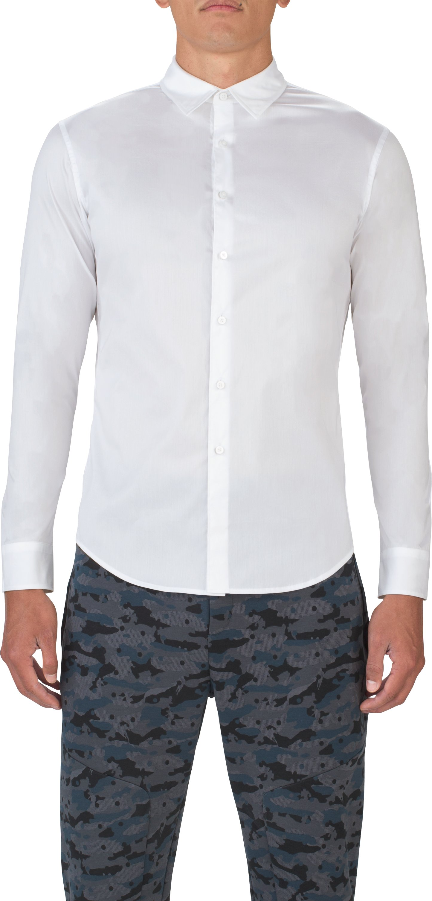 Men's UAS Draftday Solid Dress Shirt, White