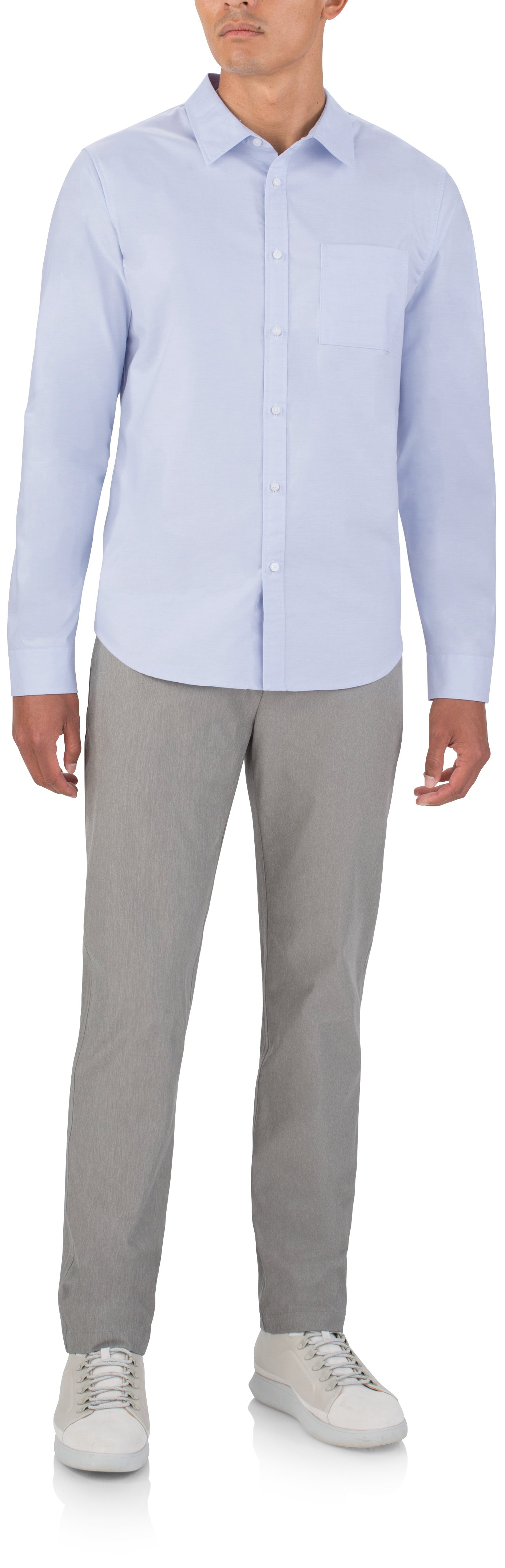 Men's UAS Draftday Oxford, Light Blue, Front