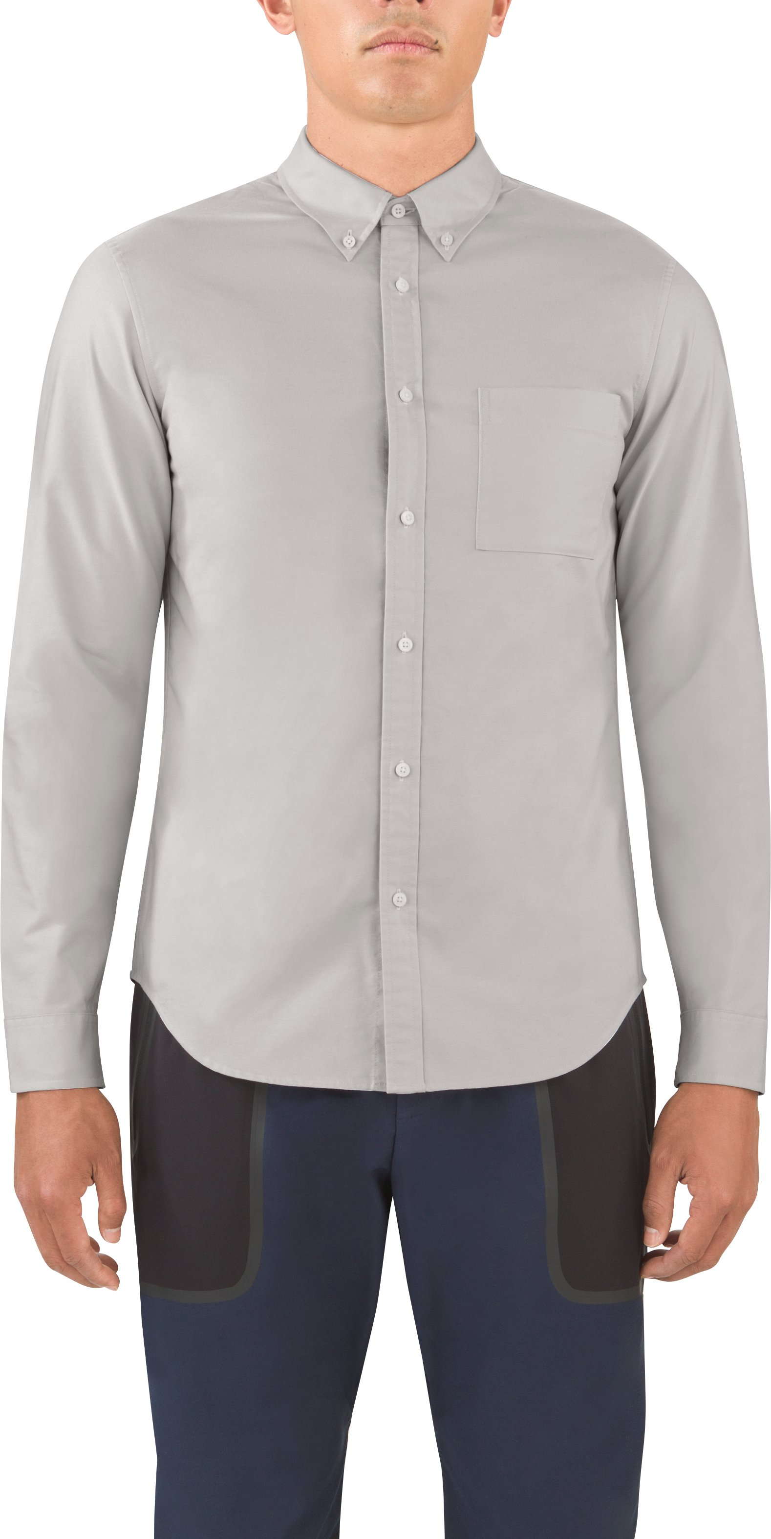 Men's UAS Draftday Oxford, STONE GRAY, undefined