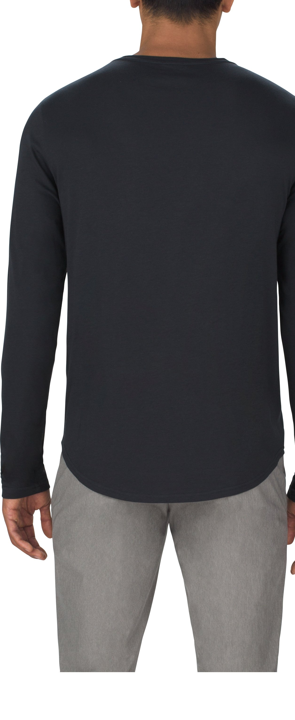 Men's UAS Highline Cashmere-Blend Long Sleeve, Black ,