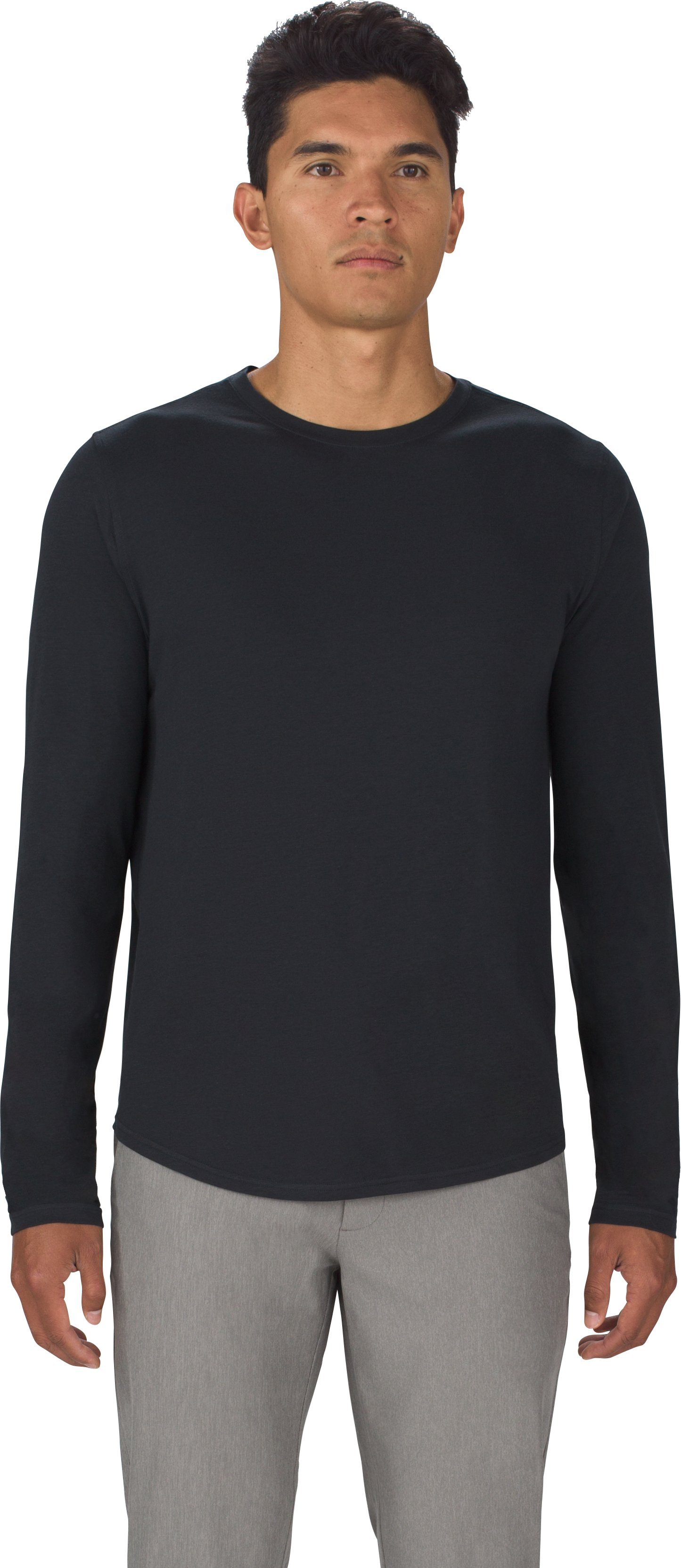 Men's UAS Highline Cashmere-Blend Long Sleeve, Black