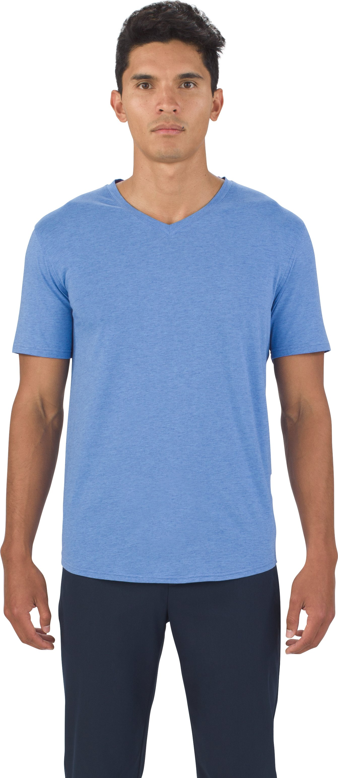 UAS Highline Cashmere-Cotton V-Neck, ROYAL LIGHT BLUE