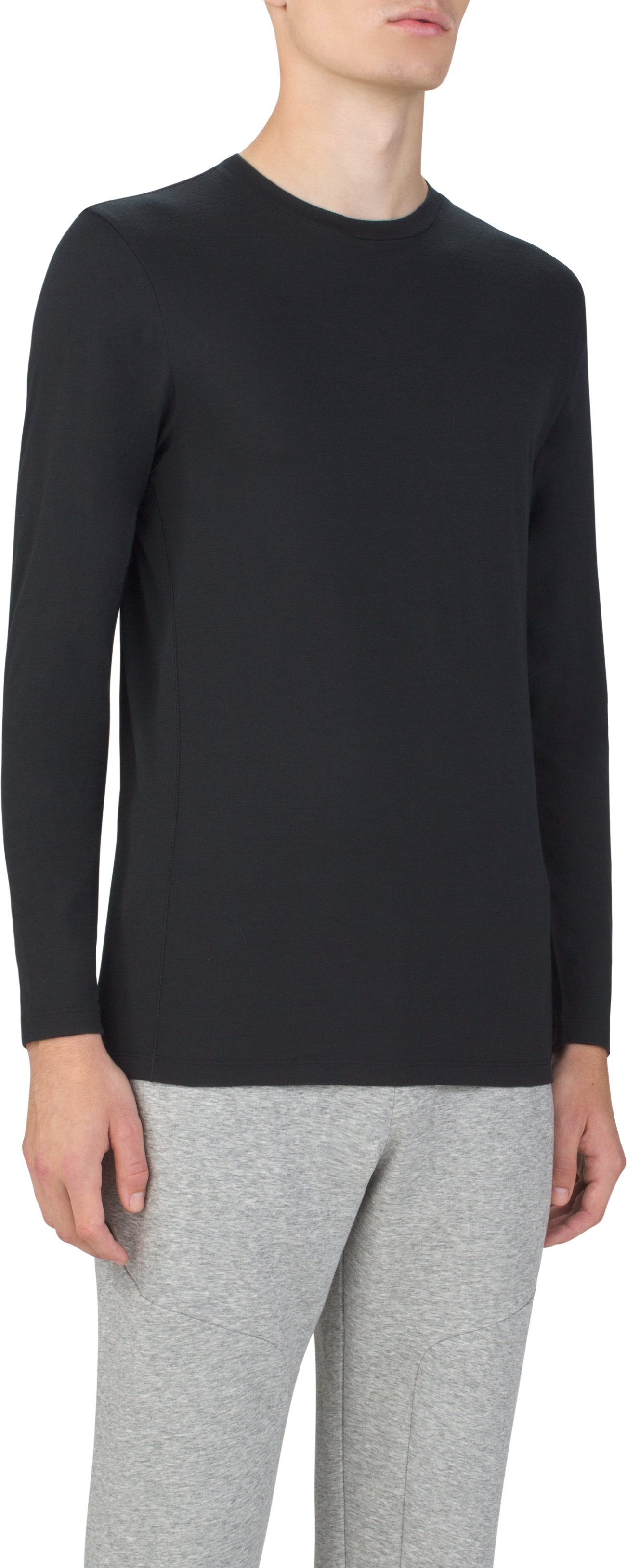 Men's Prime Long Sleeve Crew, Black ,