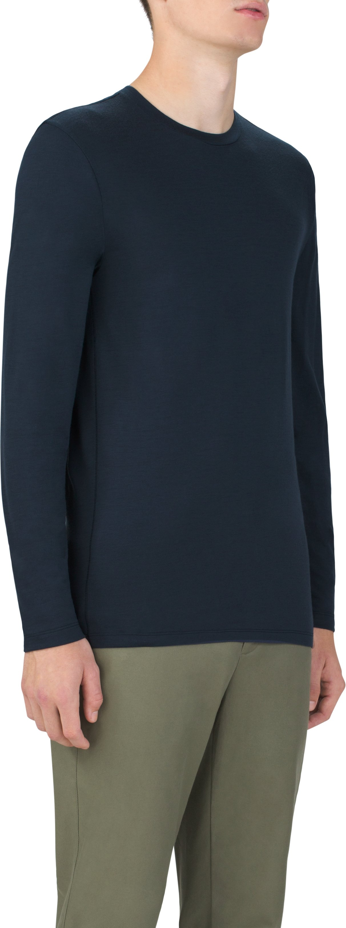 Men's Prime Long Sleeve Crew, Navy, zoomed image