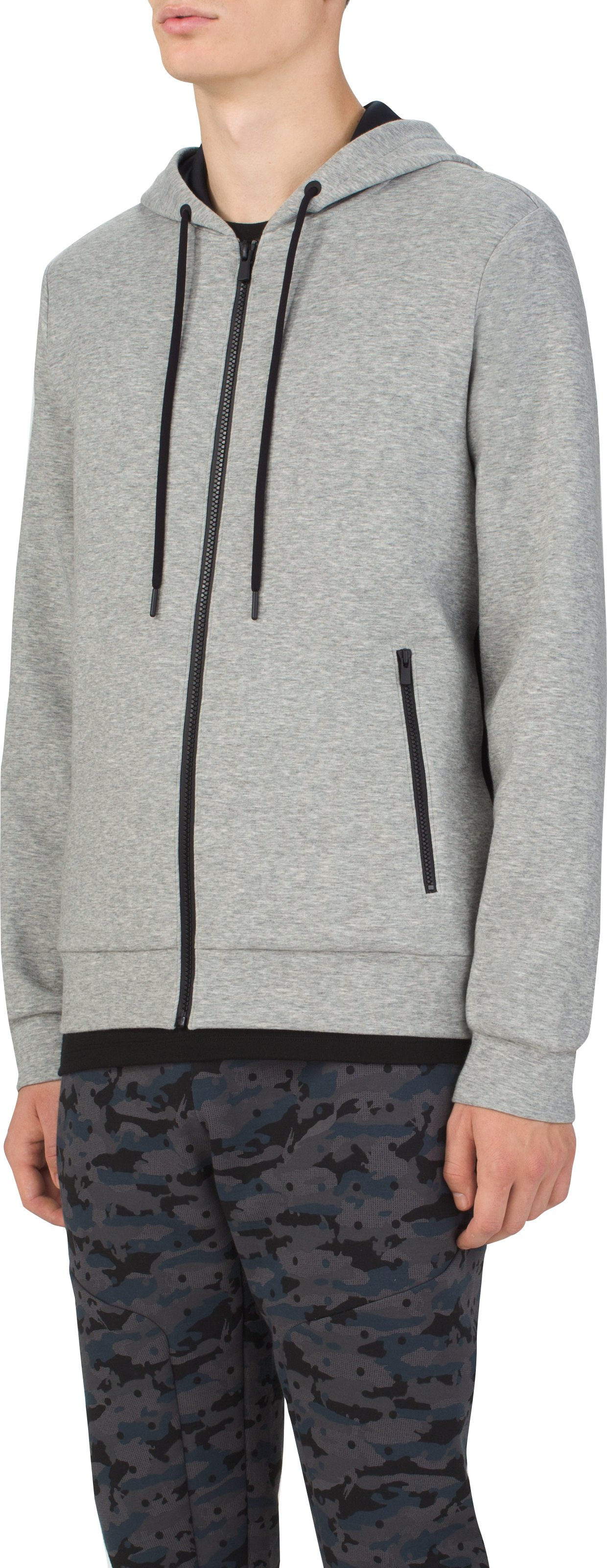Men's UAS Tailgate Full Zip Hoodie, LIGHT HEATHER GRAY, zoomed image