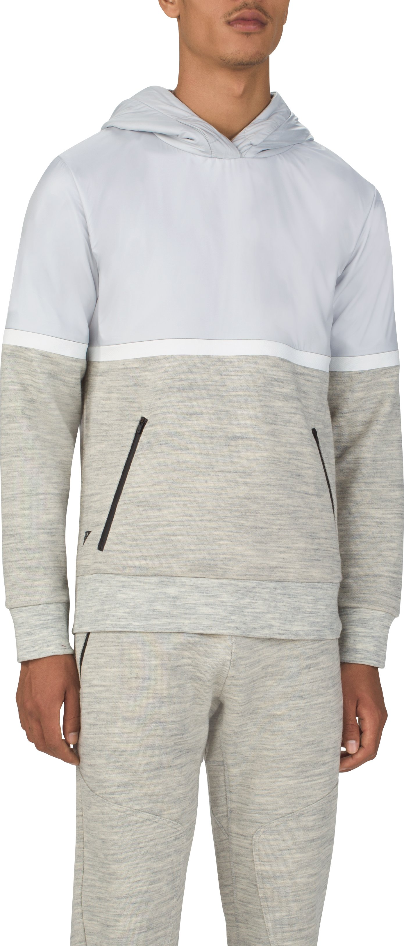 Men's UAS Pivot Terry Hoodie, Light Gray