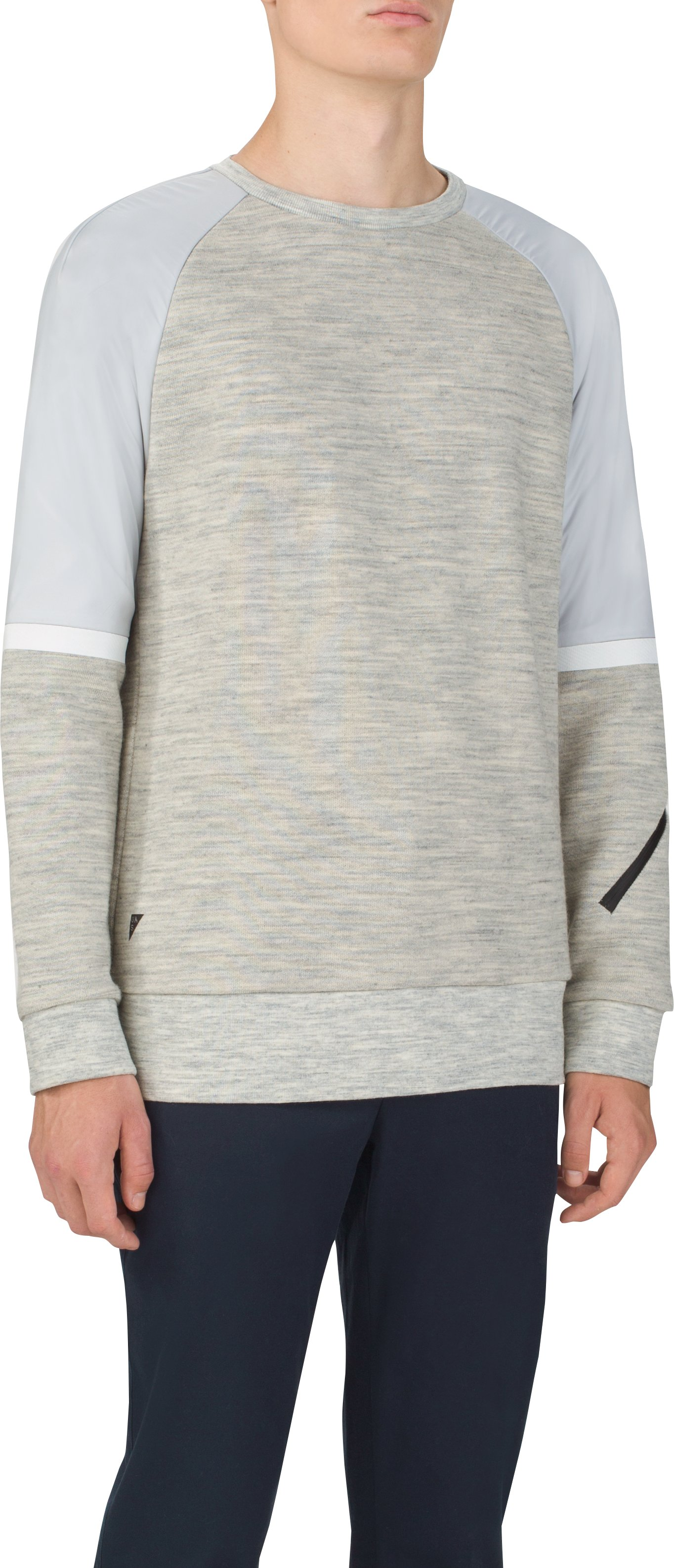 Men's UAS Pivot Terry Sweatshirt, Light Gray