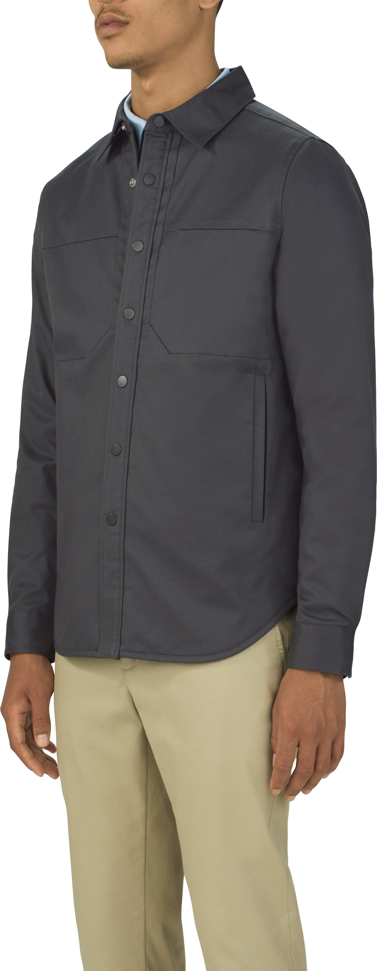 Men's UAS Fieldhouse Workshirt Jacket, Gray, undefined