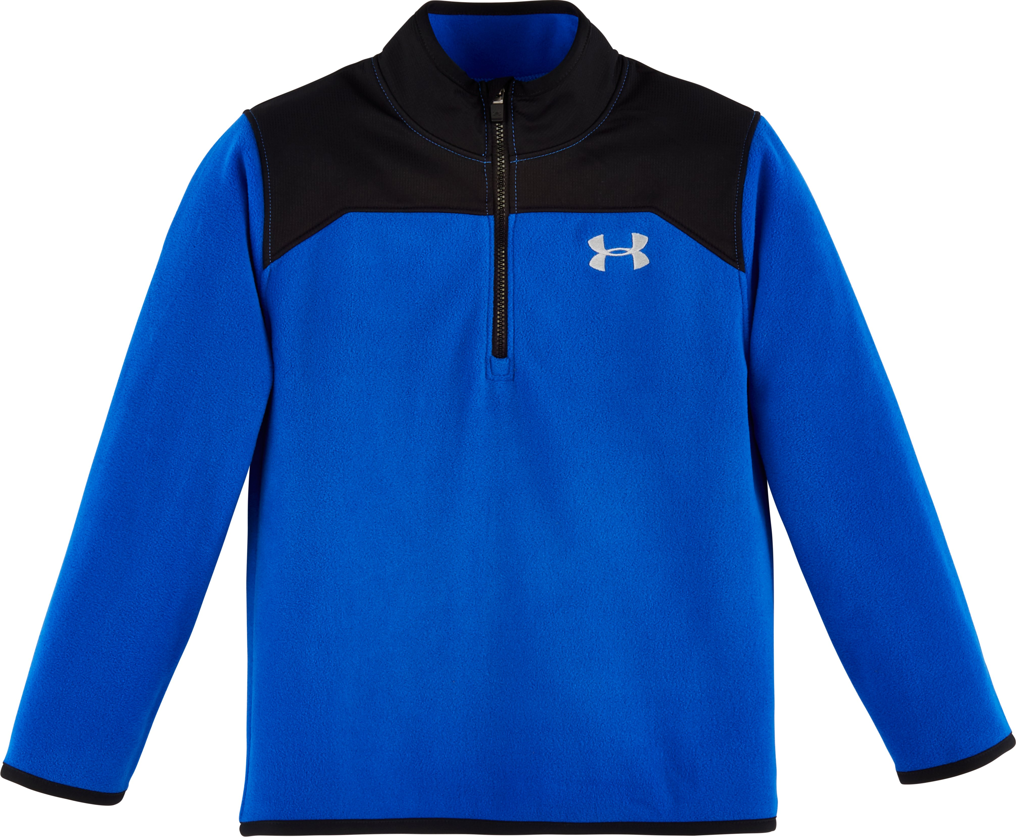 Boys' Pre-School UA Shellshock 1/4 Zip, ULTRA BLUE, Laydown