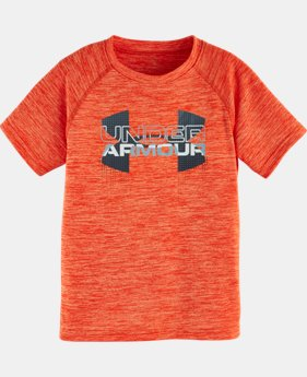 New Arrival Boys' Toddler UA Big Logo Hybrid Short Sleeve Twist T-Shirt   $21.99