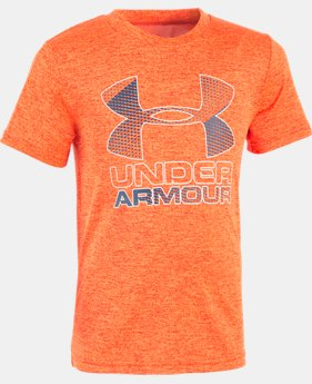 New Arrival  Boys' Toddler UA Big Logo Hybrid Short Sleeve Twist T-Shirt  1 Color $26.99