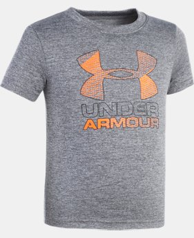 Boys' Pre-School UA Big Logo Hybrid Short Sleeve T-Shirt   $21.99