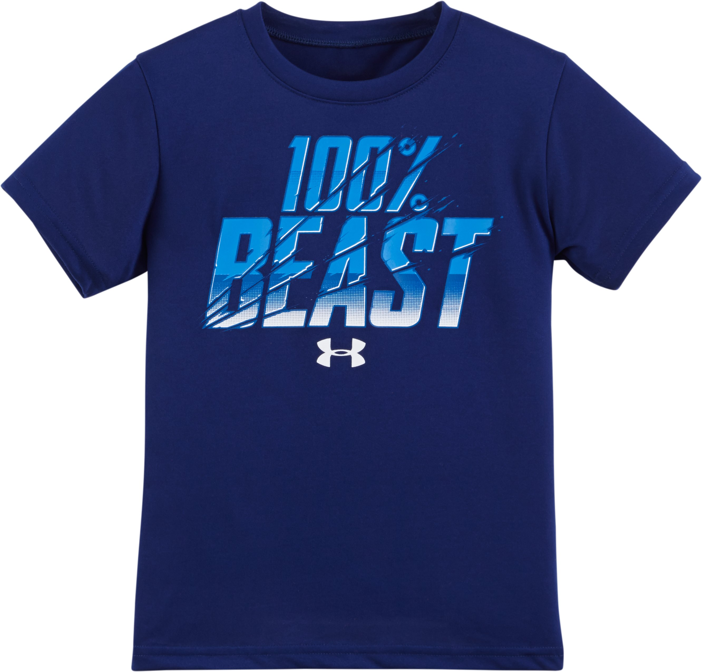 Boys' Toddler UA 100% Beast Short Sleeve T-Shirt, Caspian, Laydown