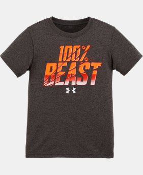 New Arrival Boys' Pre-School UA 100% Beast Short Sleeve T-Shirt  1 Color $17.99