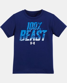 New Arrival Boys' Pre-School UA 100% Beast Short Sleeve T-Shirt   $17.99