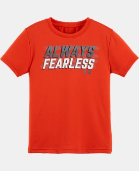 New Arrival Boys' Pre-School UA Always Fearless Short Sleeve T-Shirt   $17.99