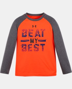 Boys' Toddler UA Beat My Best Long Sleeve LIMITED TIME: FREE U.S. SHIPPING  $22.99
