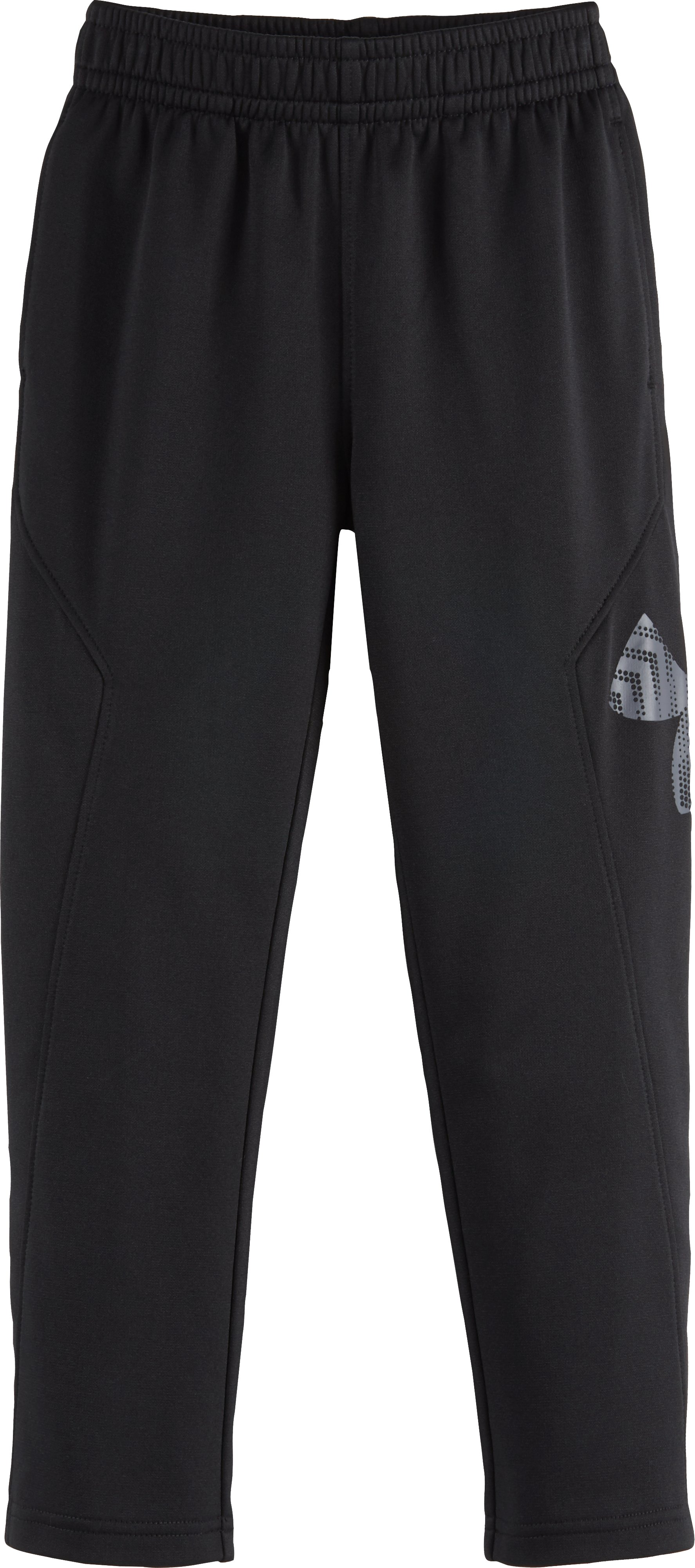 Boys' Pre-School UA Big Logo Pants, Black , Laydown