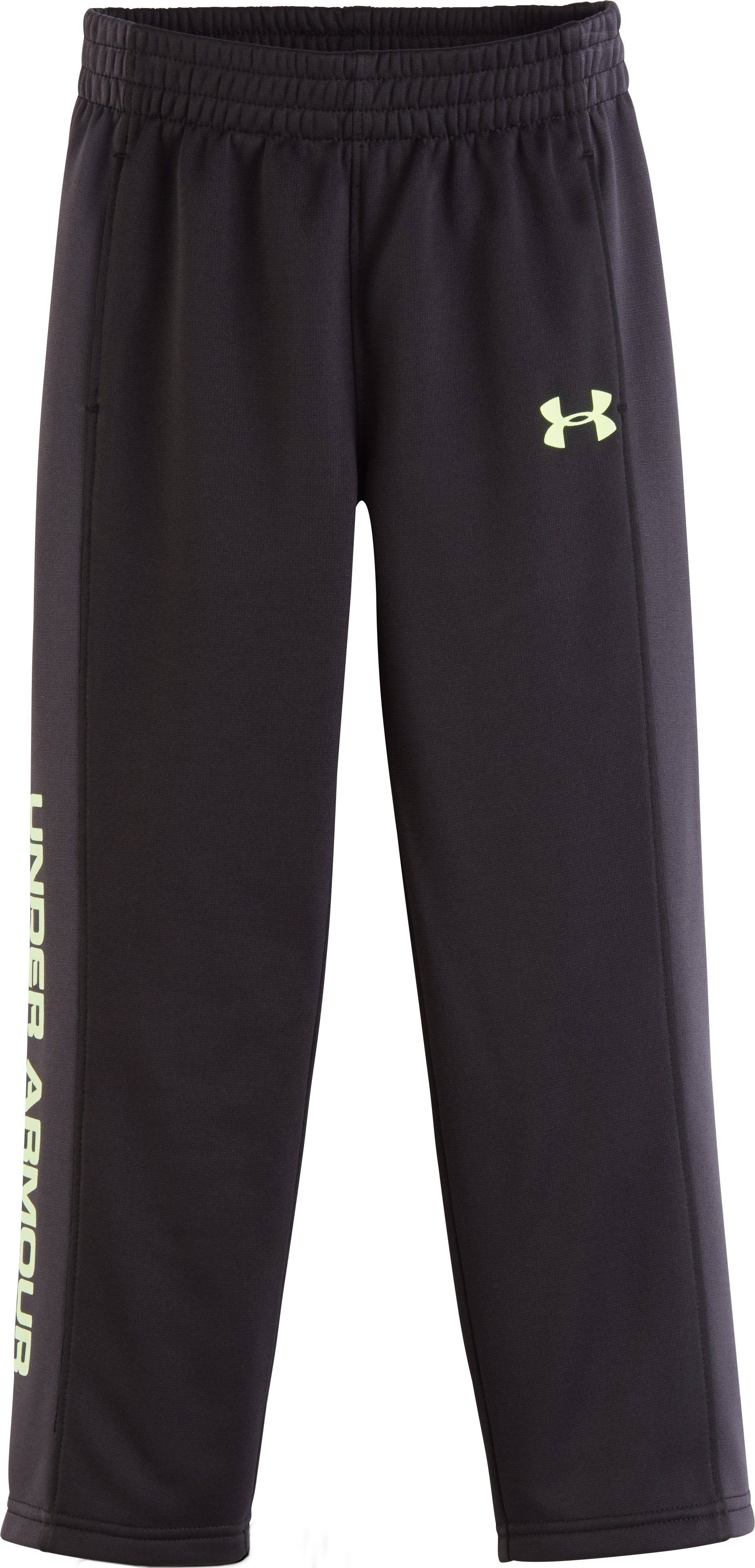Boys' Pre-School UA Stampede Pants, Black , Laydown