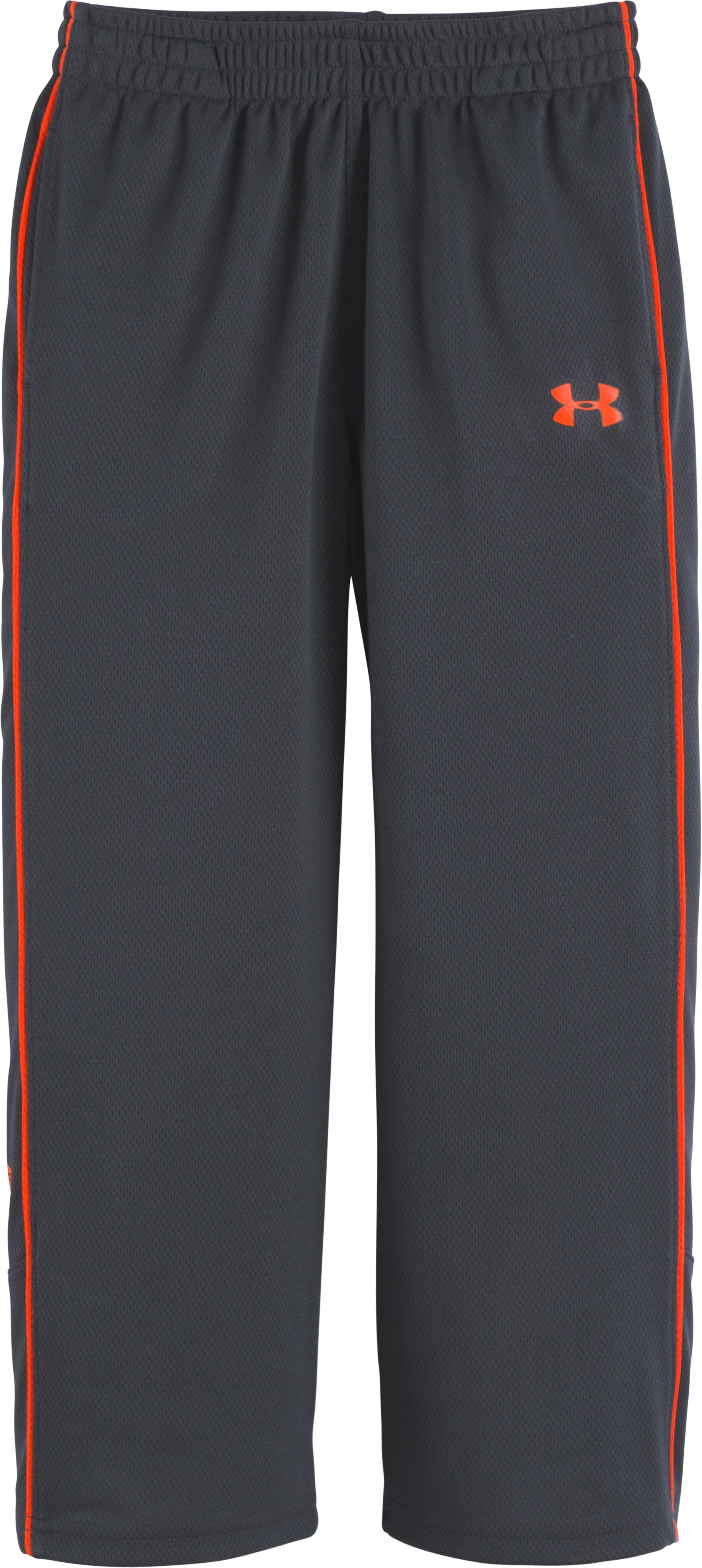 Boys' Toddler UA Midweight Champ Warm-Up Pants, STEALTH GRAY, Laydown