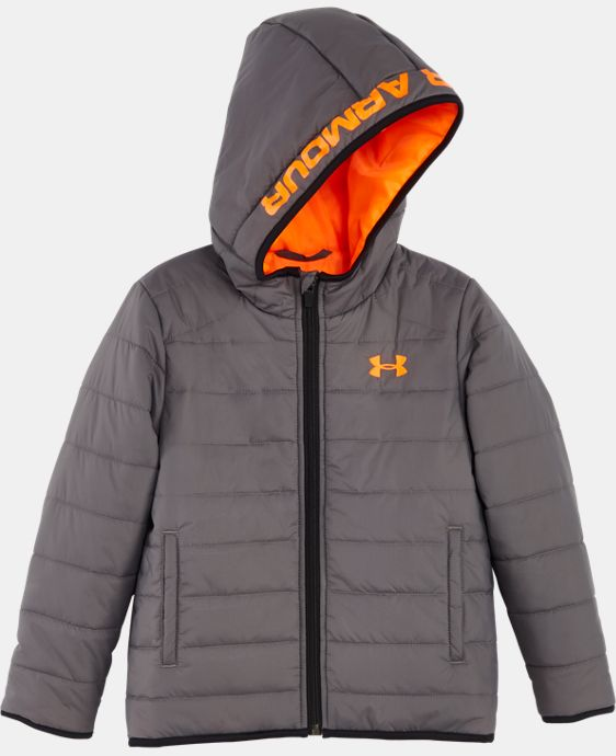 New Arrival Boys' Pre-School UA Feature Puffer Jacket   LIMITED TIME: FREE U.S. SHIPPING 1 Color $44.99 to $59.99