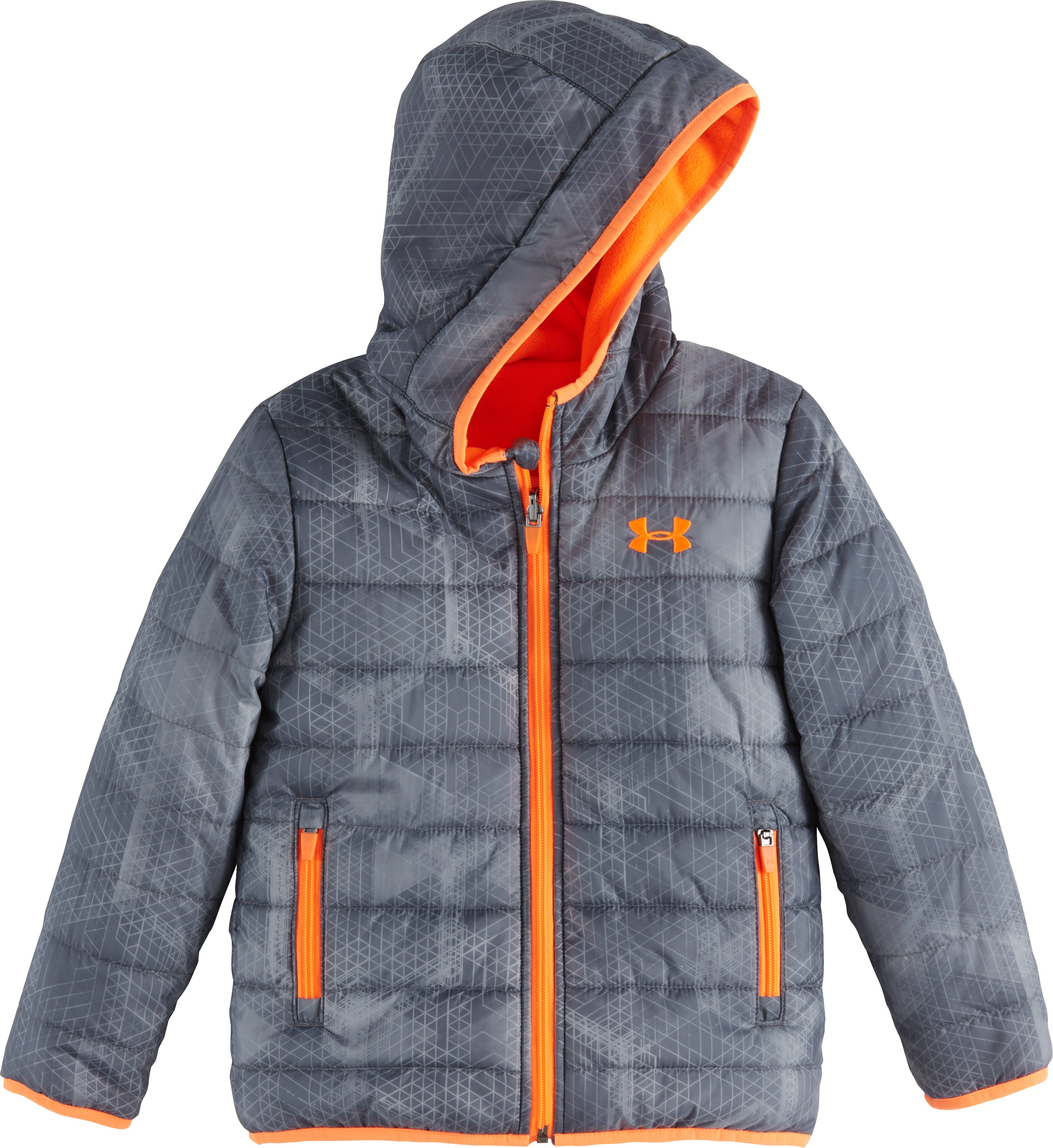 Boys' Toddler UA Electro Feature Reversible Puffer Jacket, Graphite, Laydown