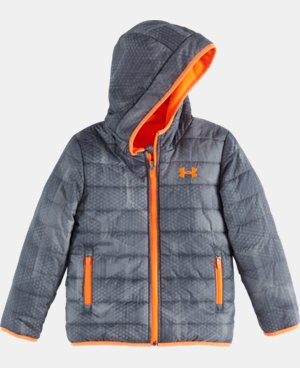 Boys' Pre-School UA Electro Feature Reversible Puffer Jacket  1 Color $63.99