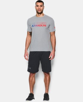 New Arrival Men's UA Wordmark Gradient T-Shirt LIMITED TIME: FREE SHIPPING 2 Colors $24.99