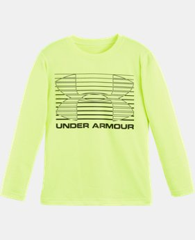 New Arrival Boys' Pre-School UA Elevate Logo Long Sleeve  1 Color $22.99