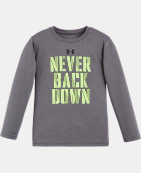 New Arrival Boys' Infant UA I Can & I Will Waffle Crew Long Sleeve LIMITED TIME: FREE U.S. SHIPPING  $25.99
