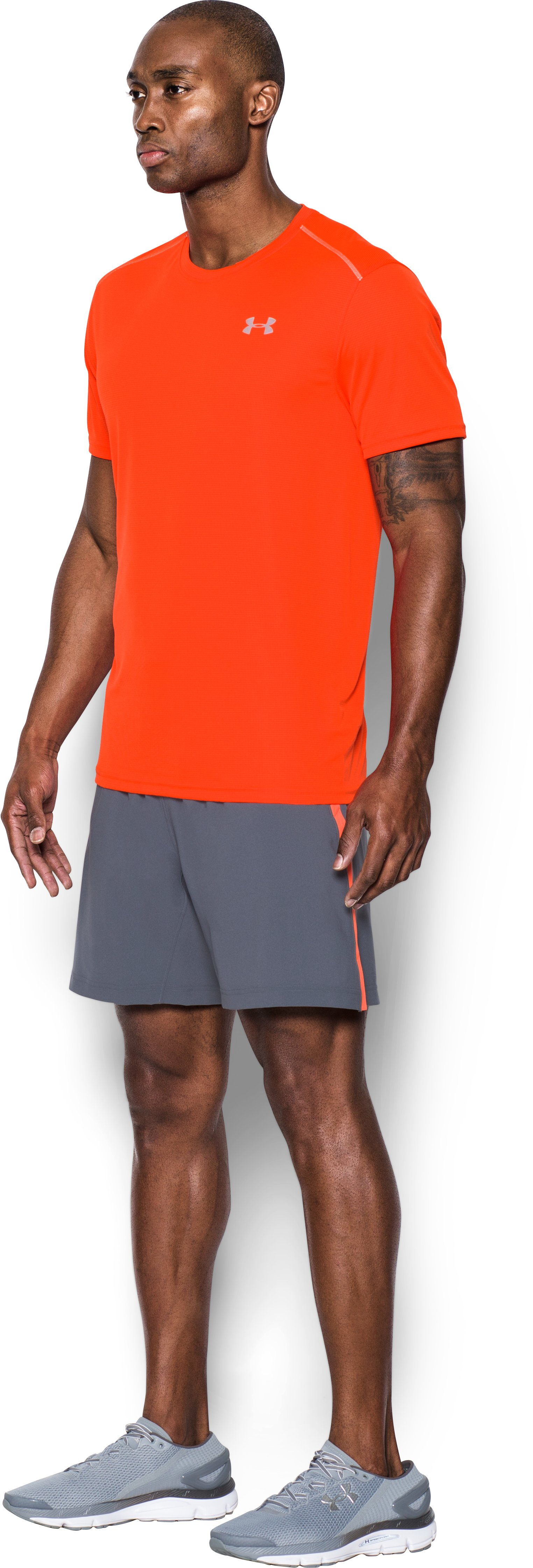 Men's UA CoolSwitch Run Short Sleeve, PHOENIX FIRE,