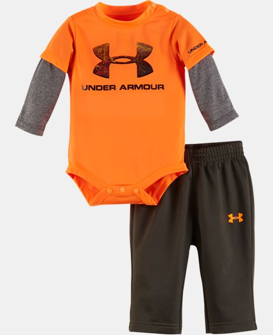 New Arrival Boys' Newborn UA Hunt Big Logo Set  1 Color $34.99
