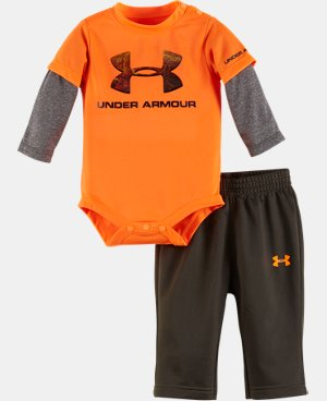New Arrival Boys' Newborn UA Hunt Big Logo Set LIMITED TIME: FREE U.S. SHIPPING  $34.99