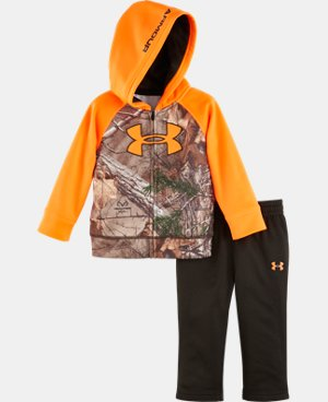New Arrival Boys' Newborn UA Camo Big Logo Raglan Hoodie Set  1 Color $49.99